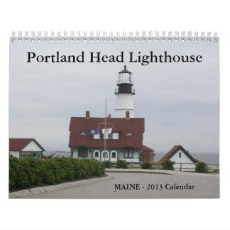 Calendario principal del faro de Portland