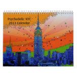 Calendario psicodélico de NYC 2013