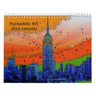 Calendario psicodélico de NYC 2014