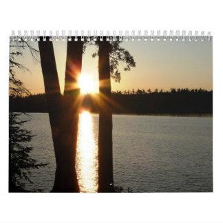Calendario - puesta del sol de la salida del sol