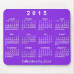 Calendario púrpura de la pasión 2015 de Janz Tapete De Raton