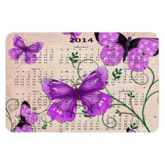 Calendario púrpura en colores pastel de 2014 marip iman flexible