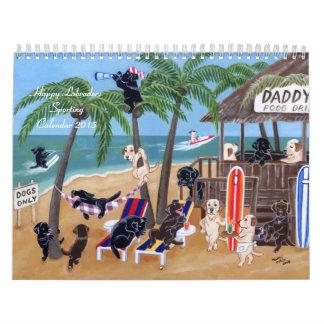 Calendario que se divierte feliz 2015 de Labradors