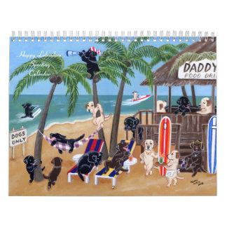 Calendario que se divierte feliz 2016 de Labradors