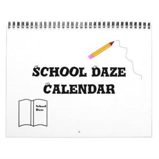 Calendario que se queja del verano