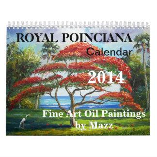 Calendario real del árbol de 2014 Poinciana