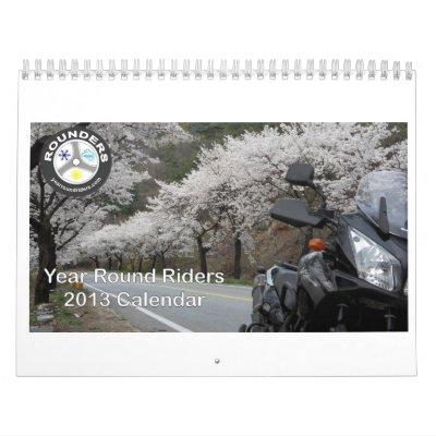 Calendario redondo de los jinetes 2013 del año