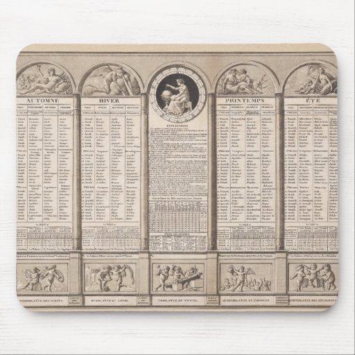 Calendario republicano, 1794 alfombrillas de raton