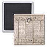 Calendario republicano, 1794 imán cuadrado