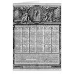 Calendario republicano, el 22 de septiembre de 179 tarjeta de felicitación