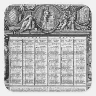 Calendario republicano, el 22 de septiembre de calcomanías cuadradas personalizadas