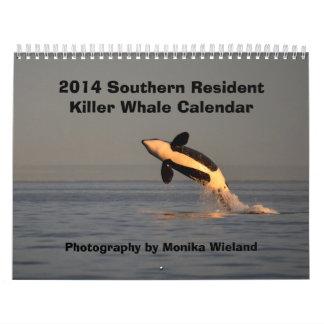 Calendario residente meridional de la orca 2014