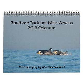 Calendario residente meridional de la orca 2015