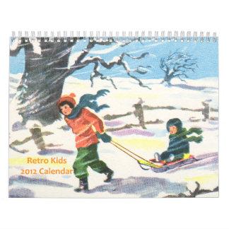 Calendario retro 2012 de los niños