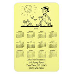 Calendario retro adaptable del hombre de negocios  imanes de vinilo