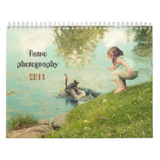 Calendario retro de la fotografía 2011