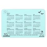 Calendario retro del hombre de negocios 2013 iman de vinilo