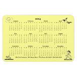 Calendario retro del hombre de negocios 2014 iman rectangular