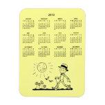 Calendario retro del hombre de negocios de Customz Imanes Rectangulares