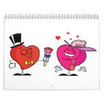 Calendario rojo del corazón