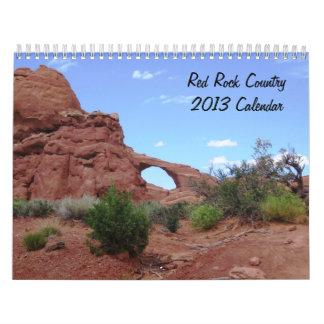 Calendario rojo del país 2013 de la roca