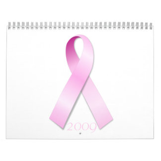 Calendario rosado de la cinta 2009