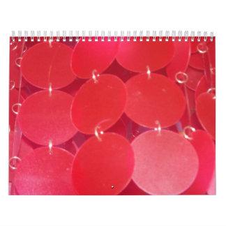 Calendario rosado de los puntos