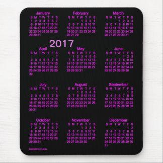 Calendario rosado de neón de la ampliación de foto mousepad