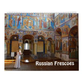 calendario ruso de la foto de 12 frescos del mes