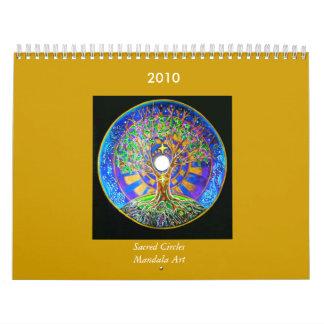 Calendario sagrado del arte de la mandala de 2014