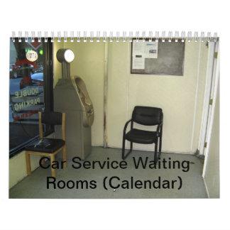 Calendario: Salas de espera del servicio del coche