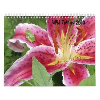 Calendario salvaje 2010 de la naturaleza de las co