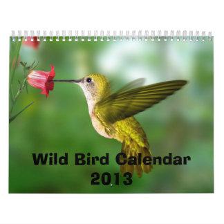 Calendario salvaje 2013 del pájaro