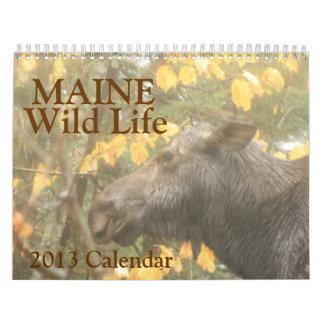 Calendario salvaje de la vida 2013 de Maine