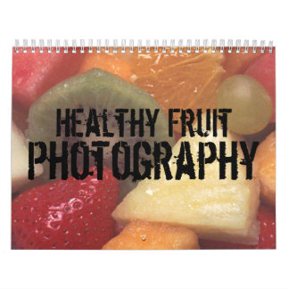 Calendario sano de la fotografía de la fruta