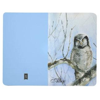 Calendario septentrional 2014 2015 del búho de hal cuaderno