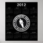 Calendario septentrional retro del alma 2012 impresiones
