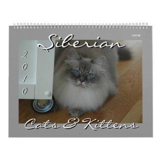 Calendario siberiano de 2010 gatos