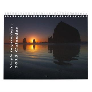 Calendario simple de las inspiraciones 2013