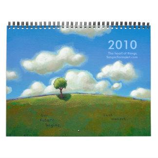 Calendario simple del arte de 2010 términos - feli