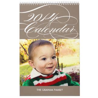 Calendario simplemente magnífico 2014 de la foto