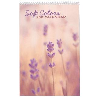 Calendario suave de los colores 2011