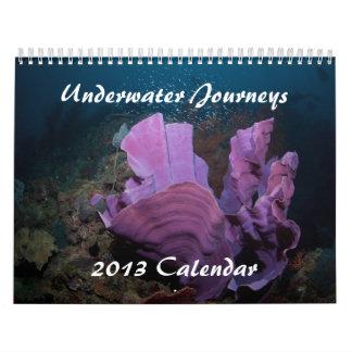 Calendario subacuático 2013 de la vida marina de