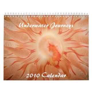 Calendario subacuático de los viajes 2010