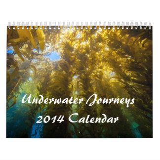 Calendario subacuático de los viajes 2014