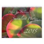 Calendario suculento de las fotos 2015 de Debra