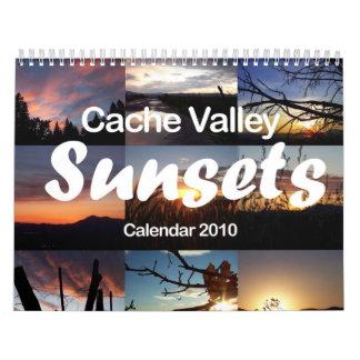 Calendario superior 2010 de las puestas del sol de