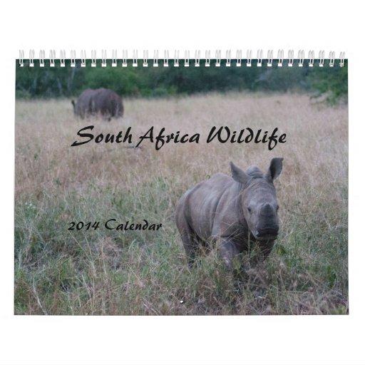 Calendario surafricano de la fauna 2014