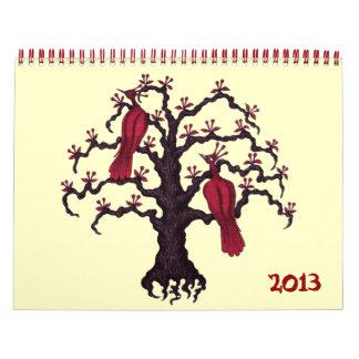 Calendario surrealista del arte 2013 del dibujo de