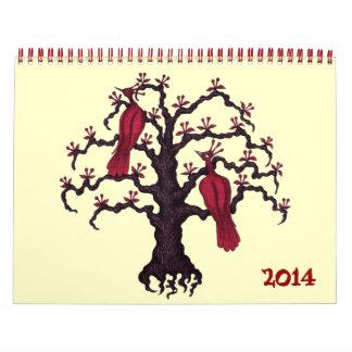 Calendario surrealista del arte 2014 del dibujo de